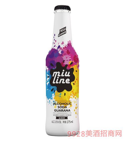 炫彩�{精�`瓜拉�{�K打酒(配制酒)3.5度275ml浪漫型