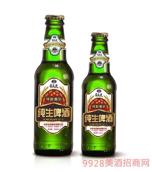 豪��泉�生啤酒(�G瓶)