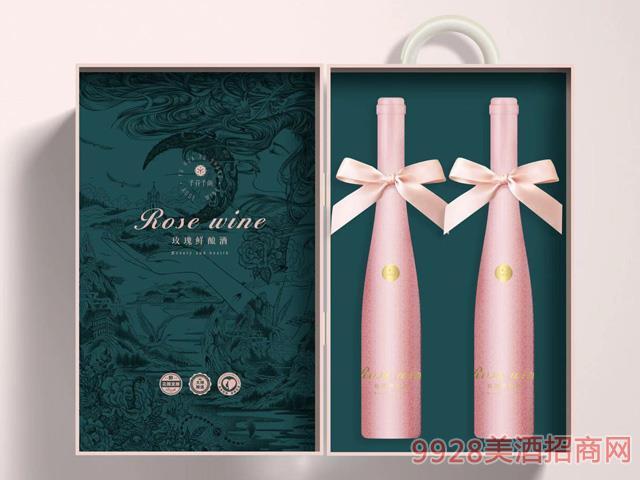 予花予尚玫瑰�r�酒�Y盒�b375mlX2