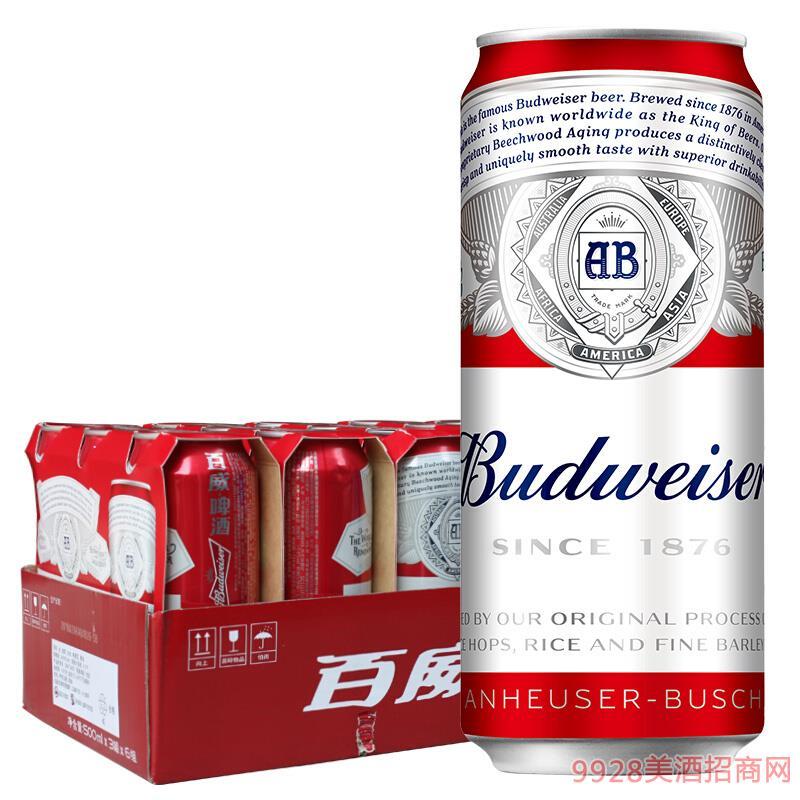 百威淡色拉格啤酒-500ml18听