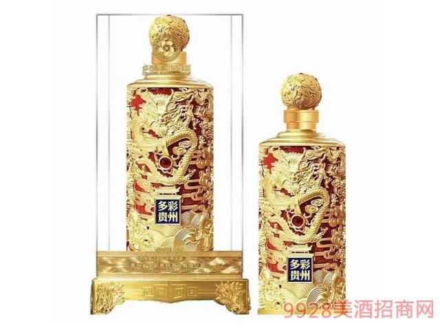 多彩贵州酒龙纹瓶(红色)