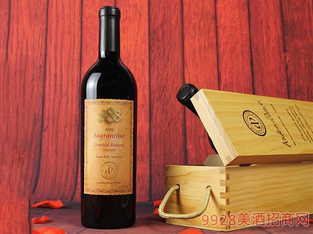 萨格兰蒂诺888限量版干红葡萄酒