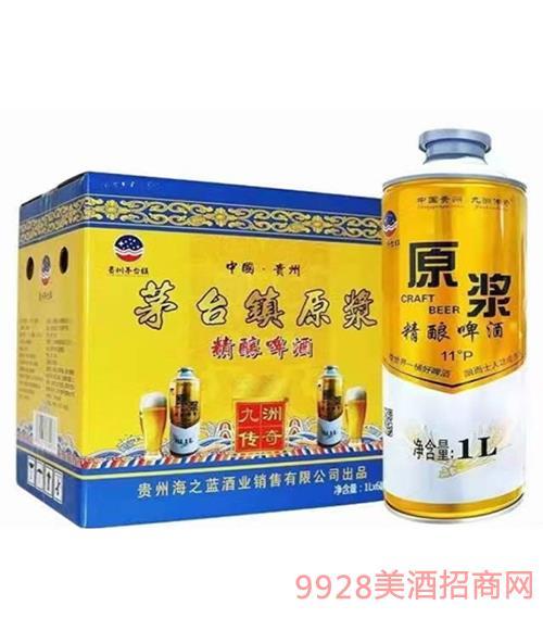 茅台镇原浆精酿啤酒1Lx6罐