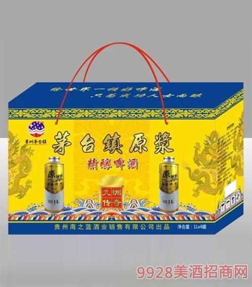 茅台镇原浆精酿啤酒1Lx4罐
