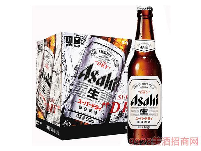 """朝日啤酒-""""超爽""""-生啤-玻璃瓶装-630ml"""