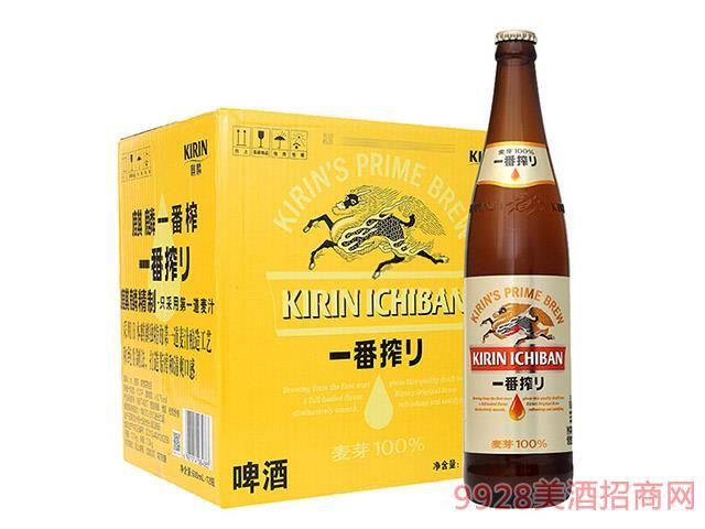 麒麟啤酒-一番榨啤酒-600ml