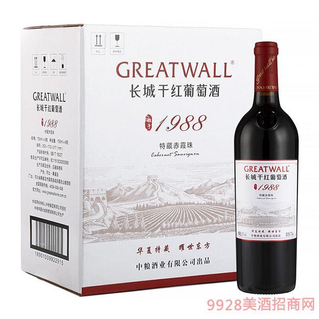长城 耀世东方 特藏1988 高级赤霞珠干红葡萄酒 750ml