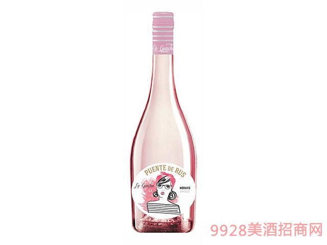 西班牙Puentes-de-La-Guarcha-Rosado半甜桃红葡萄酒