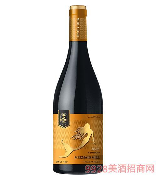 美人鱼磨坊佳美娜干红葡萄酒14度750ml