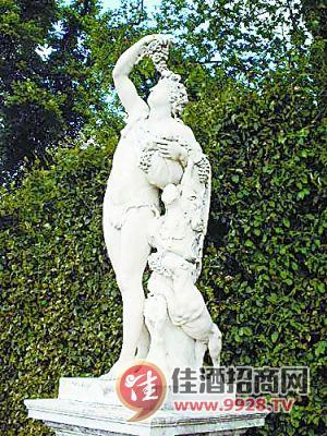 欧式红酒文化雕塑