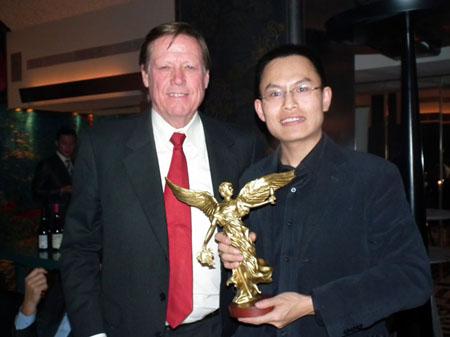 北京前门CapitalM餐厅蒙特斯晚宴与Montes先生合影