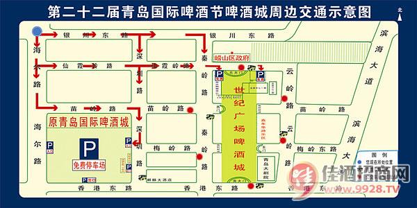青岛国际啤酒节停车场示意图