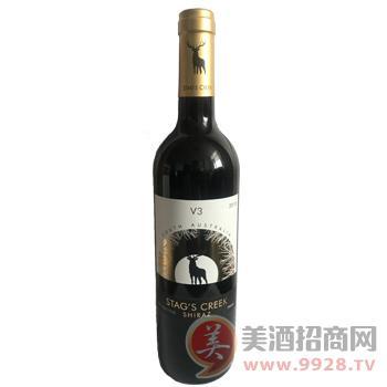 南澳鹿王溪V3设拉子红葡萄酒