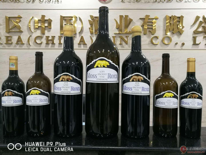 广州进口美国加州金熊红葡萄酒