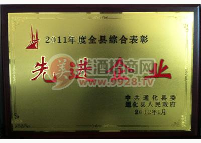 2011年度全县综合表彰先进企业