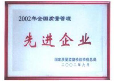 2002年全国质量管理先进企业