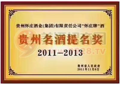 贵州名酒提名奖