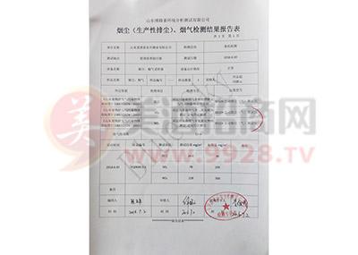 烟尘(生产性排尘)、烟气检测结果报告表