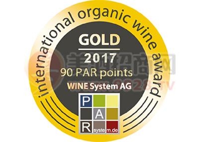 乡都安东尼品丽珠干红葡萄酒2014荣获2017帕尔国际有机葡萄酒评奖大赛金奖
