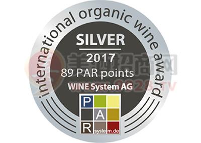 乡都安东尼赤霞珠干红葡萄酒2014荣获2017帕尔国际有机葡萄酒评奖大赛银奖