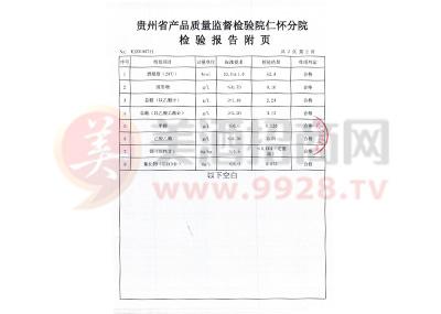 2018白金老酱酒(N15)质检报告3