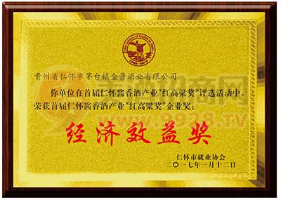 经济效益奖荣誉证书