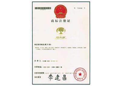 信天翁商标注册证