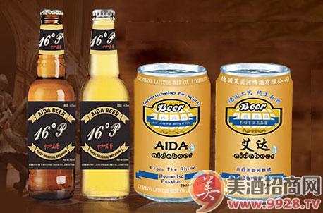 现青岛金麦鲜啤酒有限公司旗下运营的艾达啤酒面向