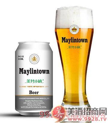 美林小镇啤酒开心一刻_青岛汇海铭洋啤酒有限公司_美.