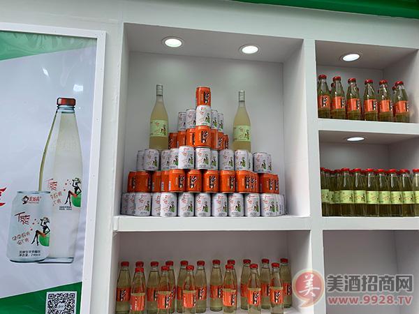 洛川美域高苹果醋饮展会现场