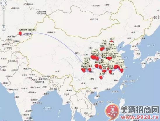 李白轨迹地图
