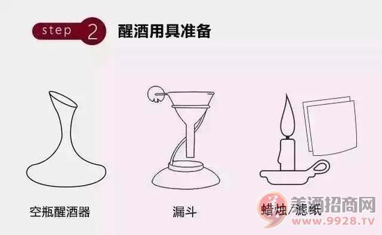 葡萄酒醒酒的五个标准步骤
