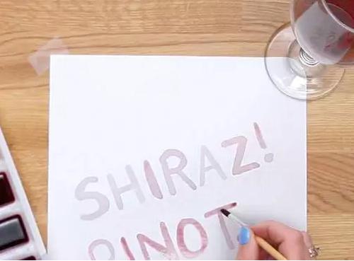 用葡萄酒作画? 你也可以试试