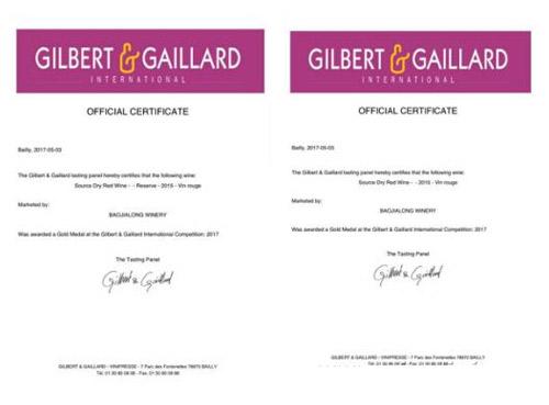 青海堡嘉隆酒庄获《GILBERT & GAILLARD》金奖