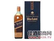 尊尼获加蓝牌威士忌酒