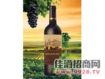 金橡葡园四星解百纳干红葡萄酒