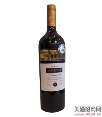 阿雷斯帝大师美乐卡曼娜赤霞珠干红葡萄酒(布鲁塞尔至尊金奖)