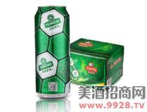 青岛啤酒足球罐500MLx12听