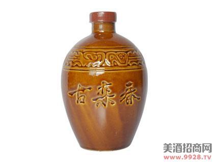古栾春酒红瓷坛