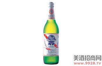 蓝带啤酒清蓝