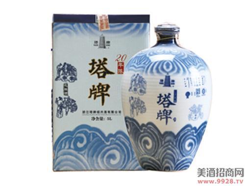 塔牌黄酒二十年花雕酒(青花)5Lx2
