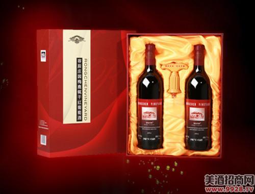 容辰庄园梅鹿辄干红葡萄酒礼盒750ml