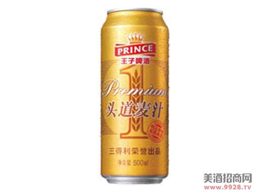 王子啤酒头道麦汁拉罐500ml