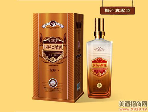 梅河国标高粱酒金标