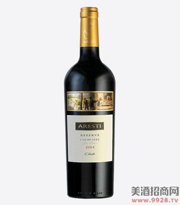 阿雷斯帝珍藏卡曼娜干红葡萄酒