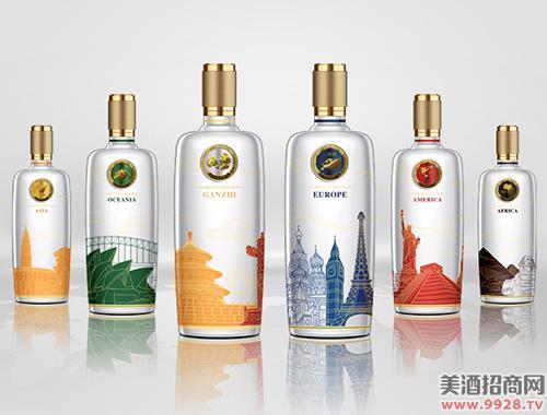 五粮国宾酒套酒(彩装)500ml×6