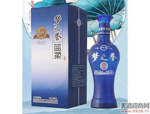 梦之誉酒蓝柔42度500ml浓香型白酒