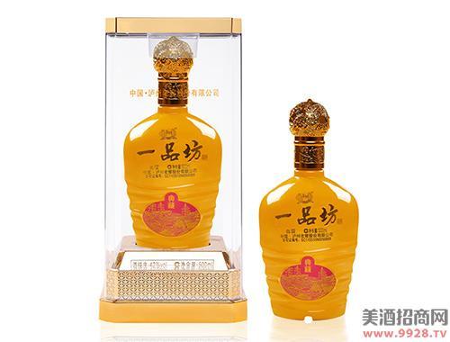 泸州一品坊酒金色典藏52度500ml