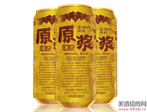 青岛啤酒13度500mlx12听7天鲜活原浆(家饮装)