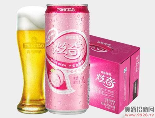 青岛啤酒水蜜桃果啤啤酒310mlx12听